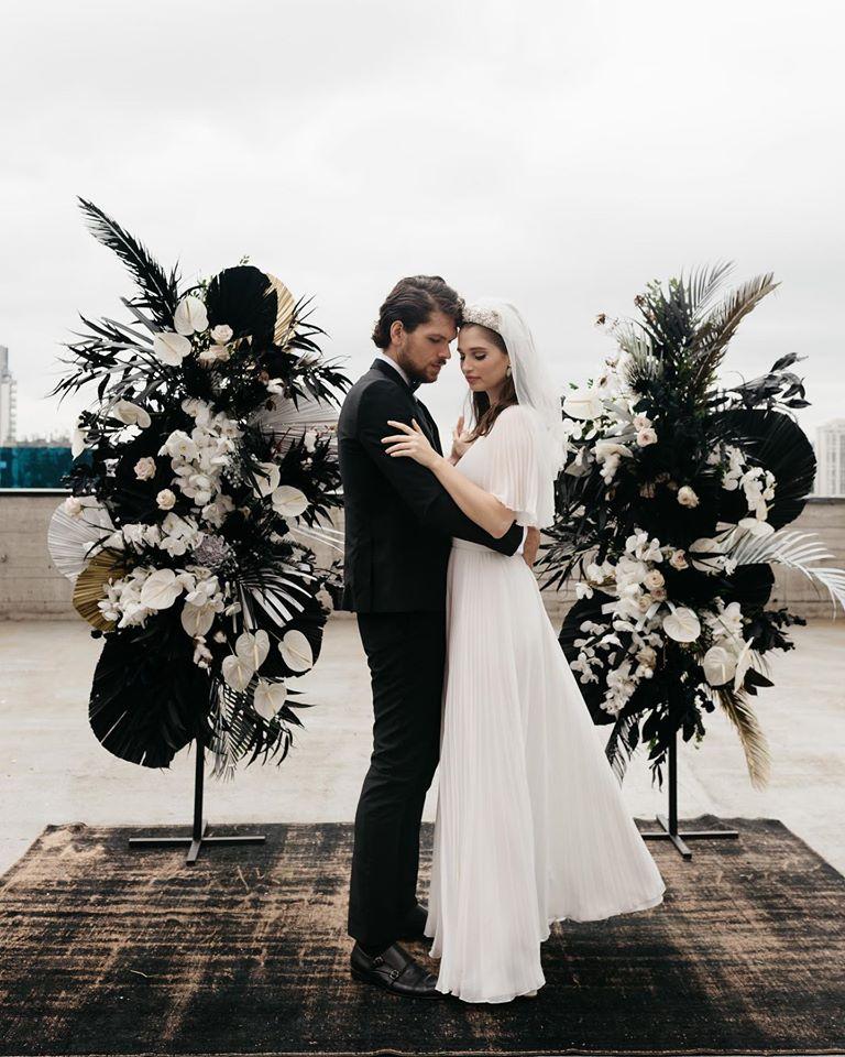 Casamento preto e branco: urbano e chic